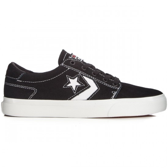 Converse KA3 Shoes - Black/White Suede - 8.0