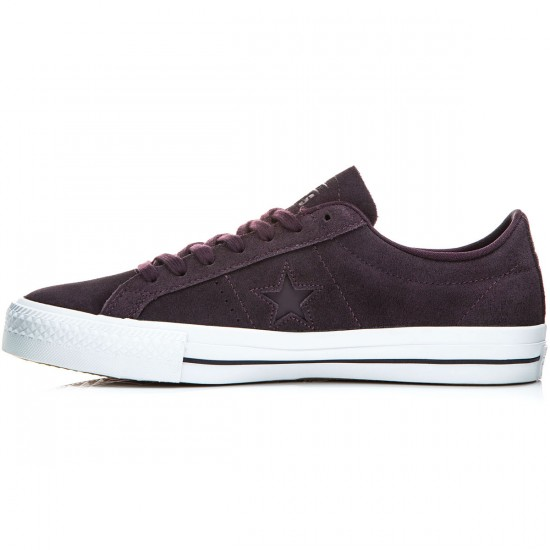 Converse One Star Pro Shoes - Black Cherry/White - 6.0