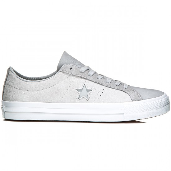 Converse One Star Pro Shoes - Mouse/Ash Grey/Dolphin - 6.5