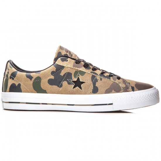 Converse One Star Pro Shoes - Sandy/Chocolate/Black - 6.0