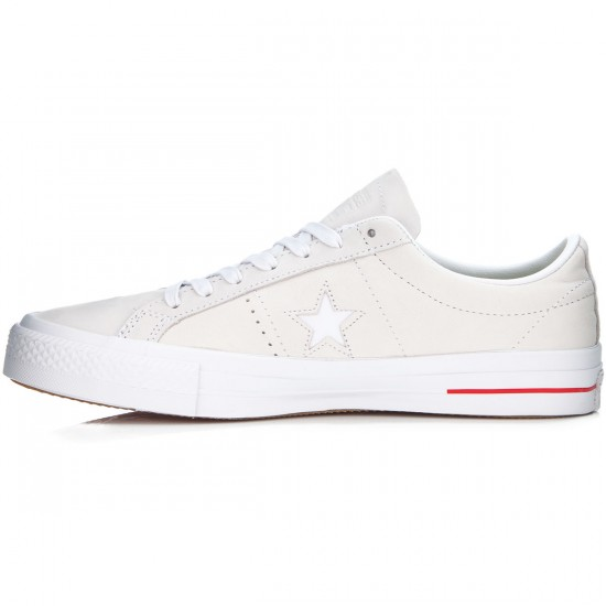Converse One Star Pro Shoes - White/Red/Blue - 6.0