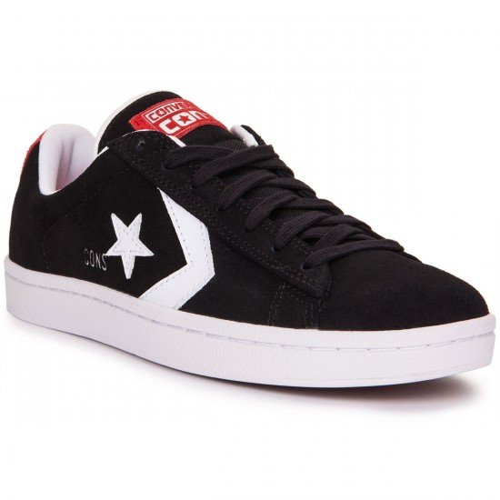 Converse Pro Leather Shoes - Black/White - 8.0