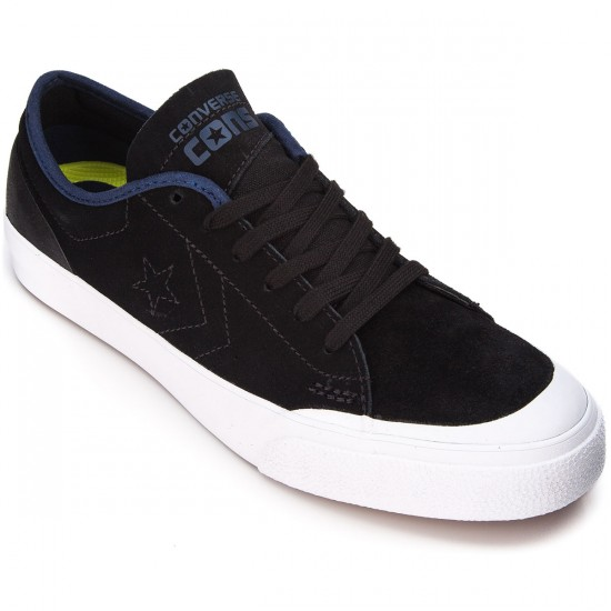 Converse Sumner Shoes - Black/Night Time/Navy Suede - 6.0