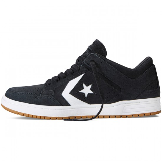 Converse Weapon Skate OX Shoes - Black/White - 9.0
