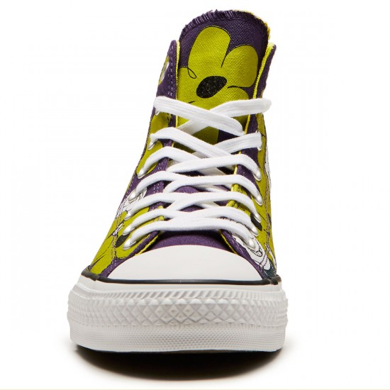 Converse X Dinosaur Jr CTAS Pro Hi Shoes - Eggplant Peel/Yellow/White - 7.0