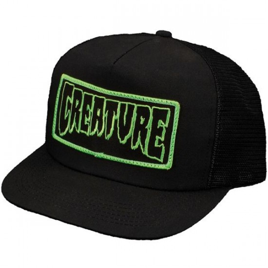 Creature Patch Trucker Mesh Hat - Black
