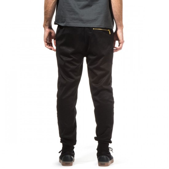 Crooks and Castles Spotter Sweat Pants - Black - XXL