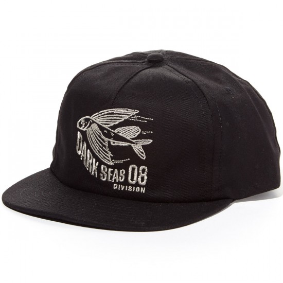Dark Seas Longhorn Hat - Black