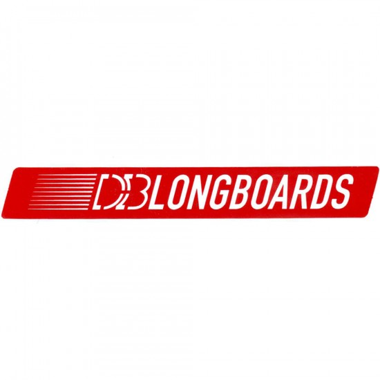 DB Longboards 7-Inch Logo Sticker - Red