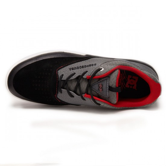 DC Cole Lite 3 Shoes - Grey/Black/Red - 9.5