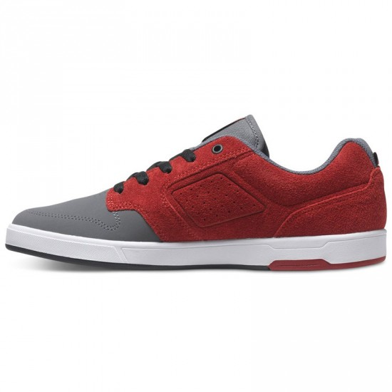 DC Nyjah SE Shoes - Grey/Dark Red - 13.0