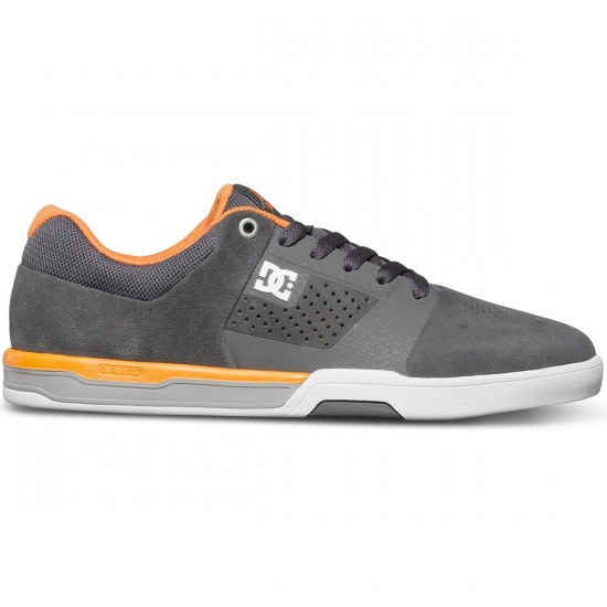 DC Cole Lite 2 Shoes - Grey/Orange/Grey - 7.0