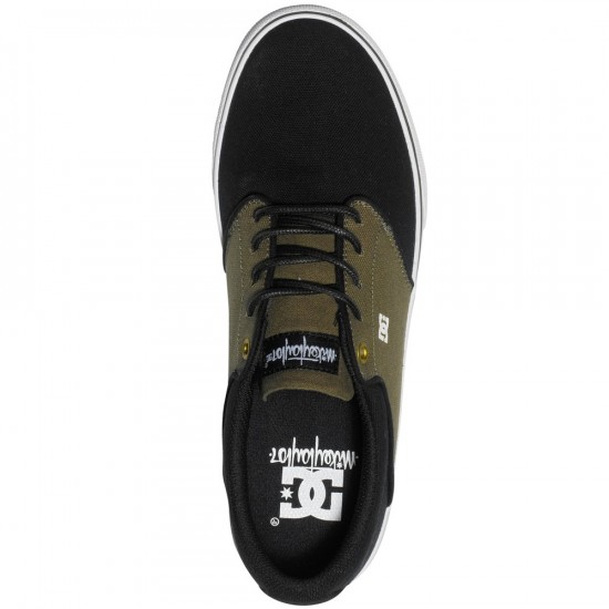 DC Mikey Taylor Vulc TX Shoes - Olive/Black - 13.0
