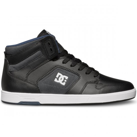 DC Nyjah High Shoes - Black/Grey/Blue - 11.0