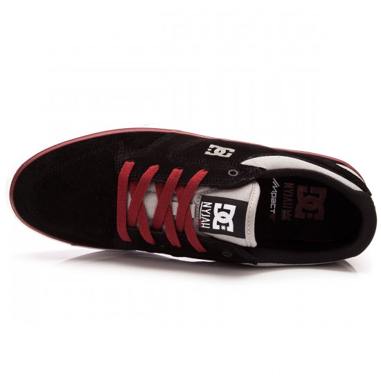 DC Nyjah Vulc Shoes - Black/Grey/Red - 13.0