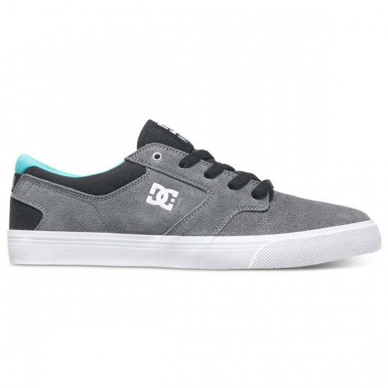 DC Nyjah Vulc Shoes - Grey/Black/Green - 13.0