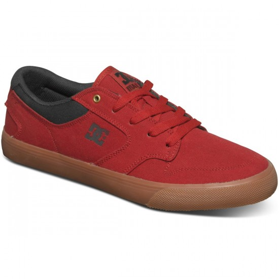 DC Nyjah Vulc TX Shoes - Red - 7.0