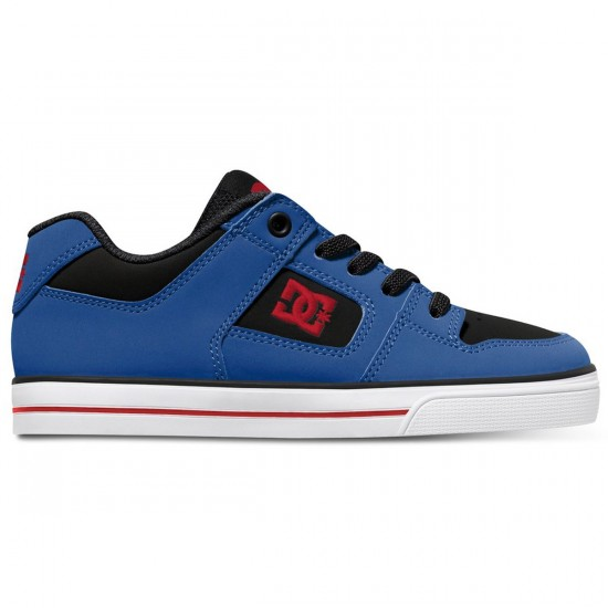 DC Pure Elastic Kid Shoes - Black/Royal/Athletic - 3Y