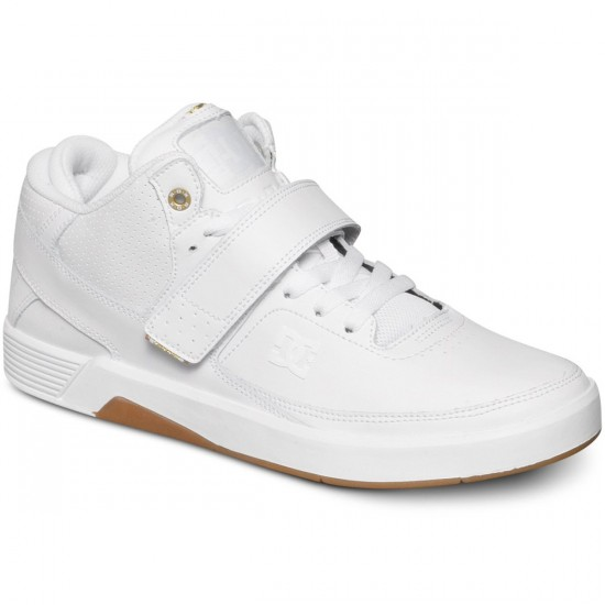 DC RD X Mid SE Shoes - White/White/Gum - 7.0