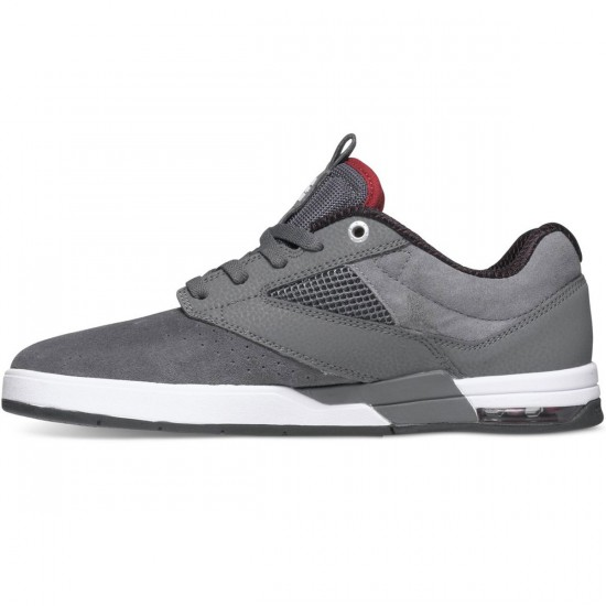 DC Wolf S Shoes - Grey/Red - 9.0