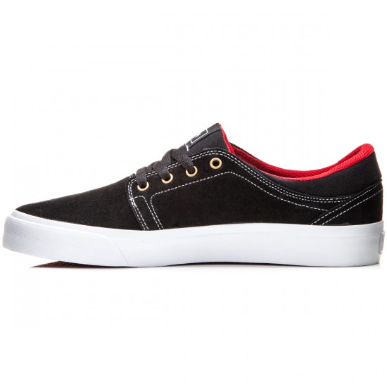 DC Trase S Shoes - Black/White/True Red - 6.0