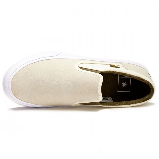 DC Trase Slip-On Shoes - White - 8.5