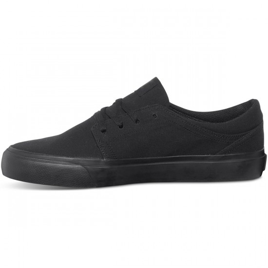 DC Trase TX Shoes - Black/Black/Black - 6.0