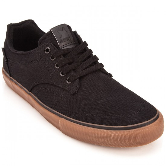 Dekline Tim Tim Shoes - Black/Gum Canvas - 10.0