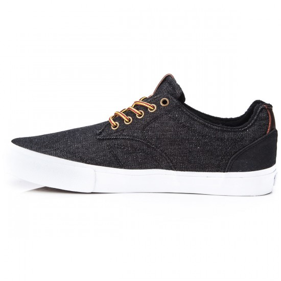 Dekline Tim Tim Shoes - Black/White Denim - 10.0