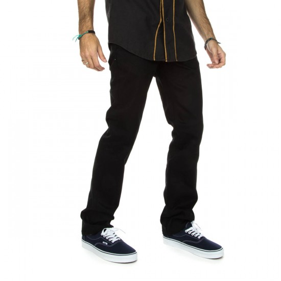 DGK Icon Stretch Twill Pants - Black - 38 - 32