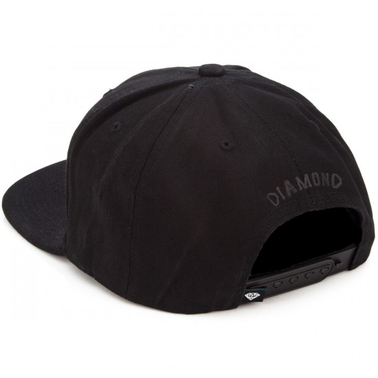 Diamond Supply Co. Blackout Snapback Hat - Black