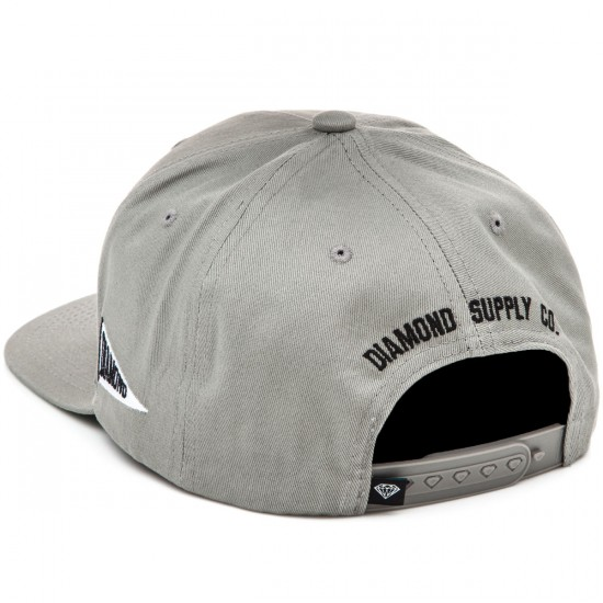 Diamond Supply Co. Brilliant Snapback Hat - Heather Grey