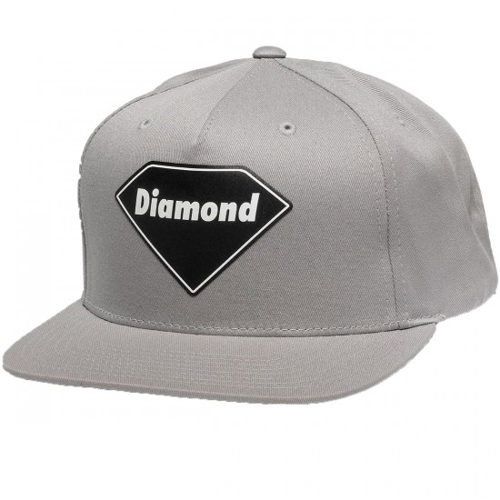 Diamond Supply Co. Diamond Basic Snapback Hat - Grey