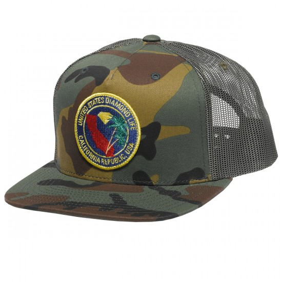 Diamond Supply Co. Diamond Republic Snapback Hat - Camo