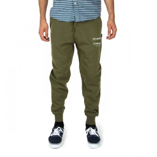 Diamond Supply Co. Hardware Stack Sweat Pants - Military Green - MD