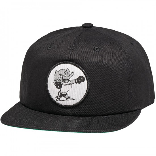 Diamond Supply Co. Heavyweight Mascot Unstructured Snapback Hat - Black