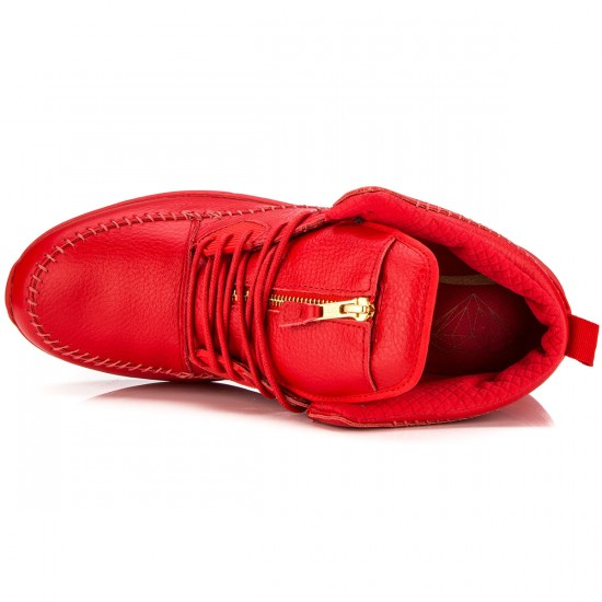 Diamond Supply Co. Native Trek Shoes - Red Leather - 9.5