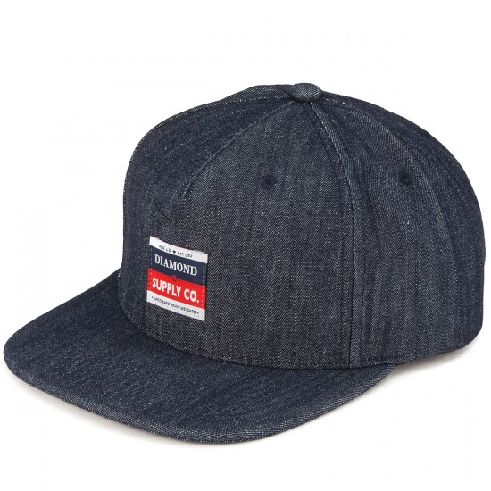 Diamond Supply Co. Supply Co Strapback Hat - Raw Indigo