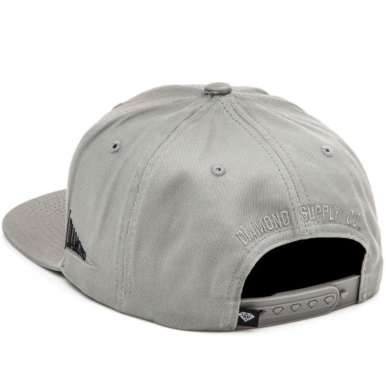 Diamond Supply Co. Un Polo Snapback Hat - Heather Grey