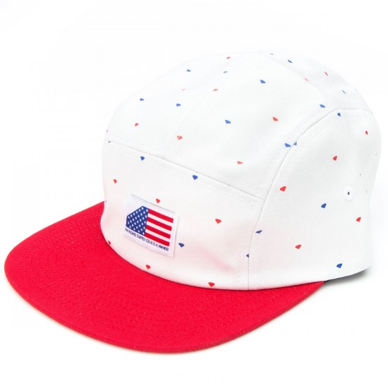 Diamond Supply Co. USA 5 Panel Hat - Red