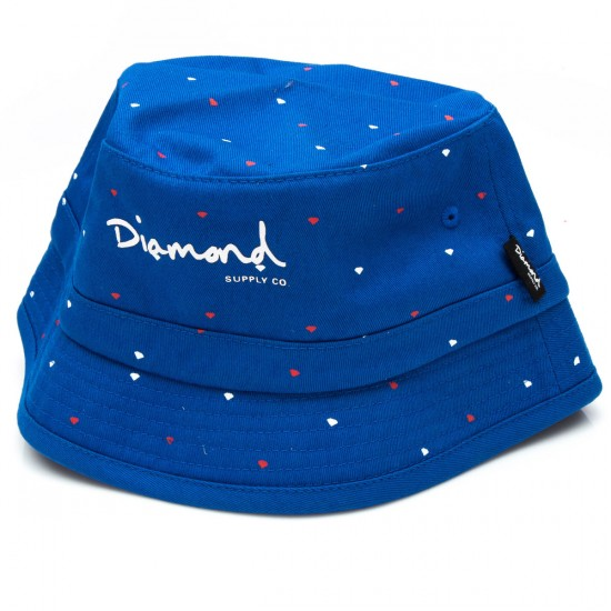 Diamond Supply Co. USA Bucket Hat - Blue