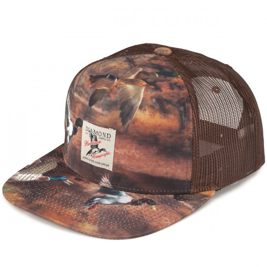 Diamond Supply Co. Woodland Trucker Hat - Brown