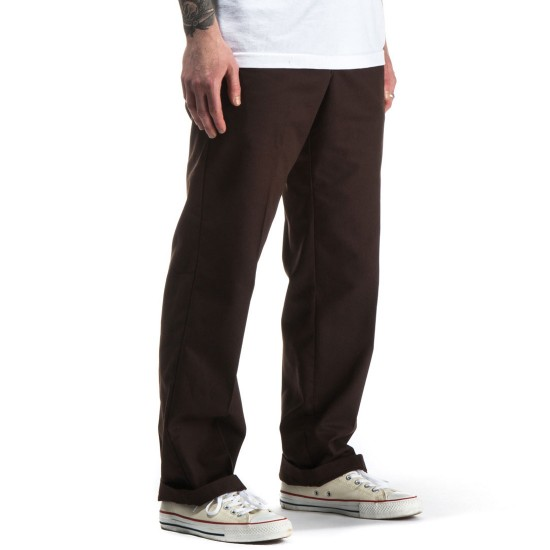 Dickies Industrial Work Pants - Chocolate Brown - 38 - 32