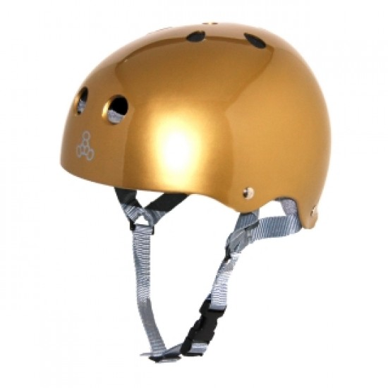 Triple Eight Brainsaver Skateboard Helmet - Gold