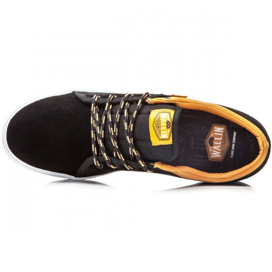DVS Aversa Shoes - Black/Tan/Suede Canvas - 8.0