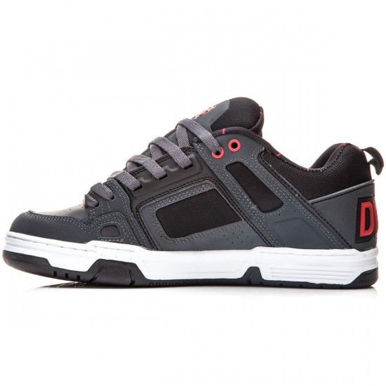 DVS Comanche Shoes - Grey/Red/Black/Nubuck/Deegan - 8.0