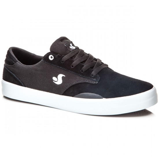 DVS Daewon 14 Shoes - Black/White/Suede Canvas - 8.0