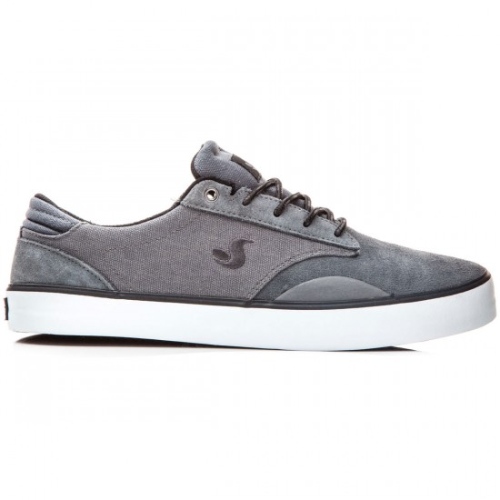 DVS Daewon 14 Shoes - Dark Grey/Suede Canvas - 8.0