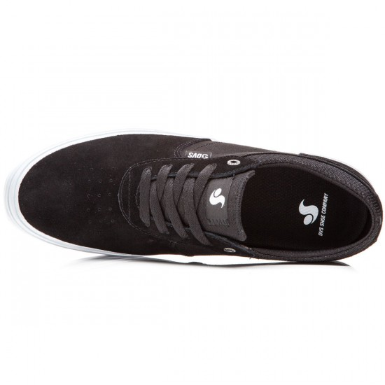 DVS Merced Shoes - Black/White Suede - 8.0