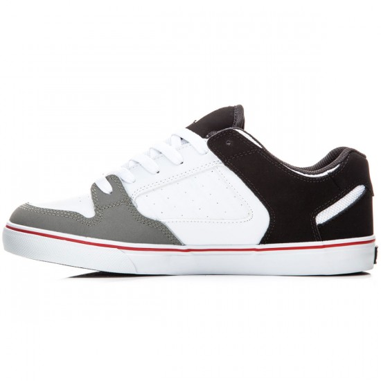 DVS Militia CT Shoes - White/Black/Grey Leather - 8.0